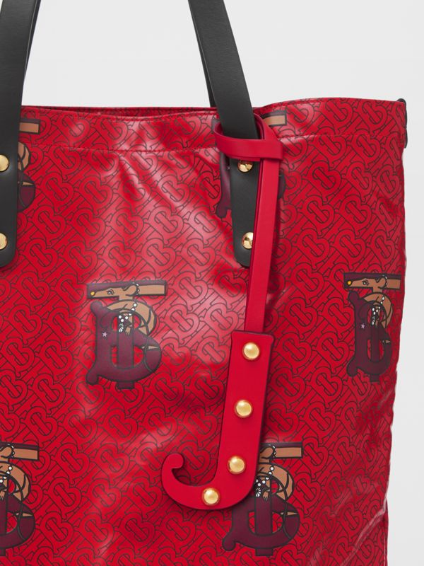 'J' Studded Leather Alphabet Charm in Red/light Gold - Women | Burberry - cell image 3