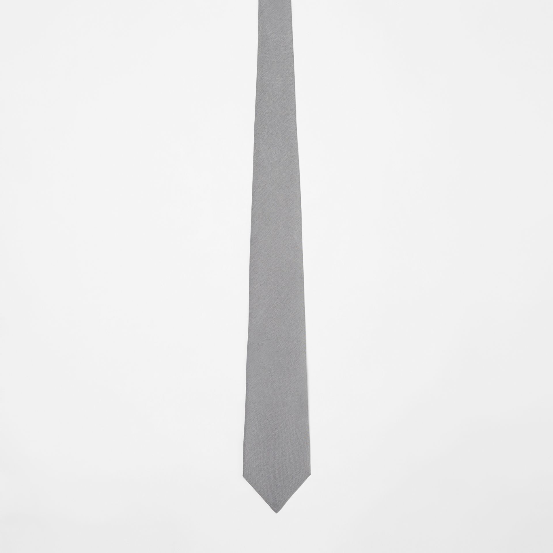 Classic Cut Silk Tie in Light Grey | Burberry United States - gallery image 3