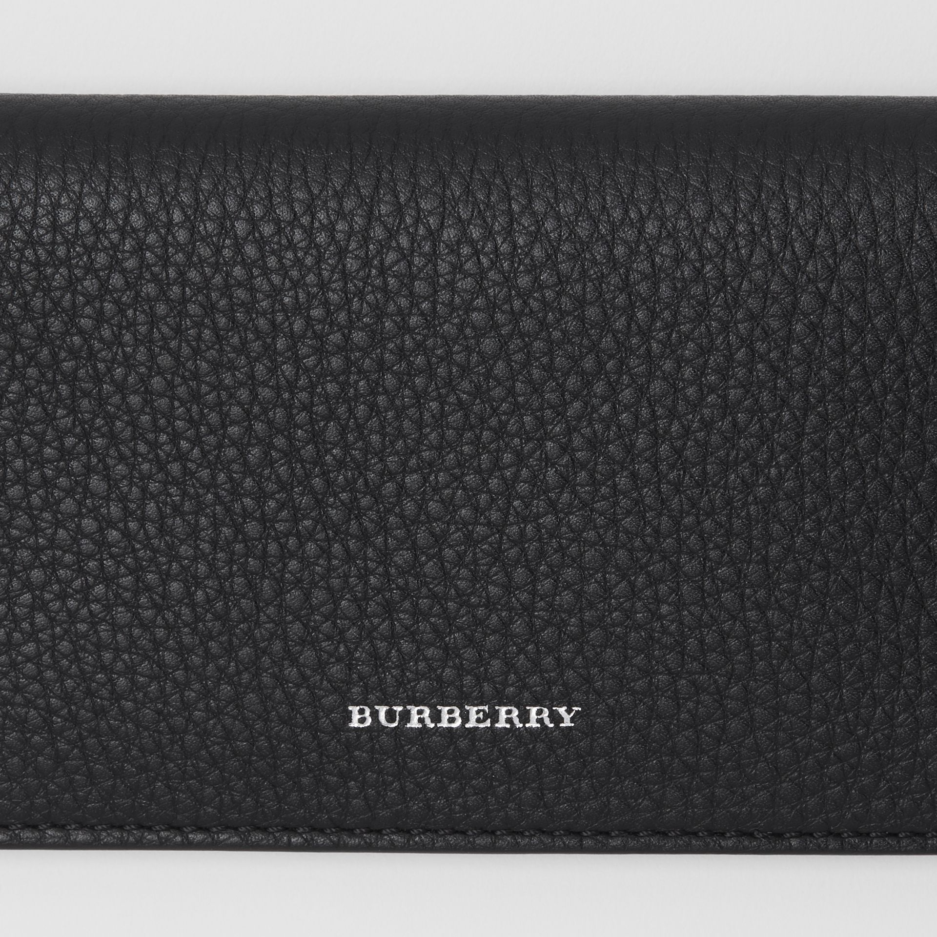 Leather Phone Wallet in Black - Women | Burberry - gallery image 1