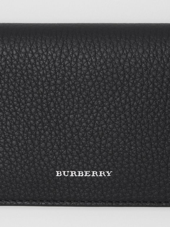 Leather Phone Wallet in Black - Women | Burberry United States - cell image 1