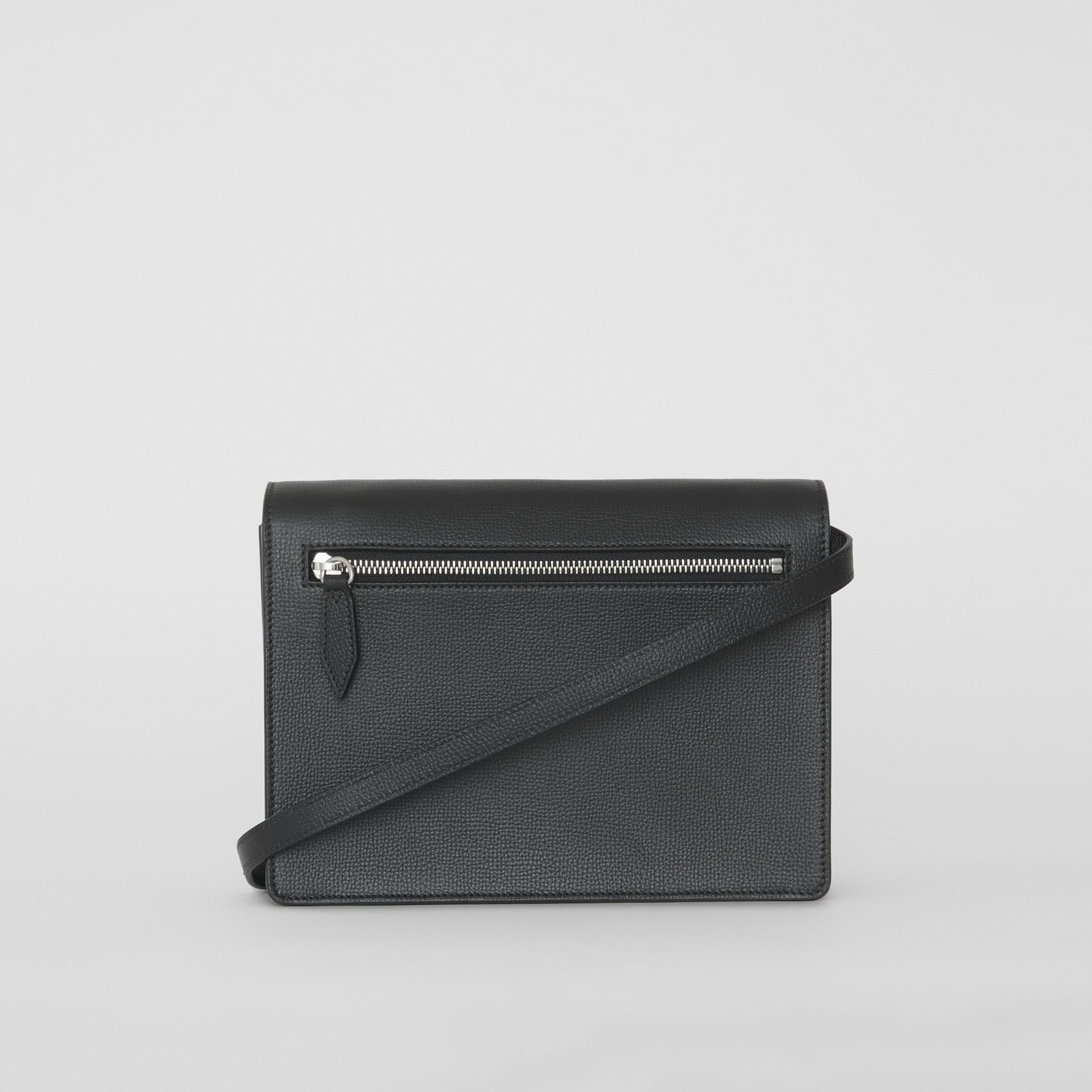 Small Vintage Check and Leather Crossbody Bag in Black - Women | Burberry Canada - gallery image 7