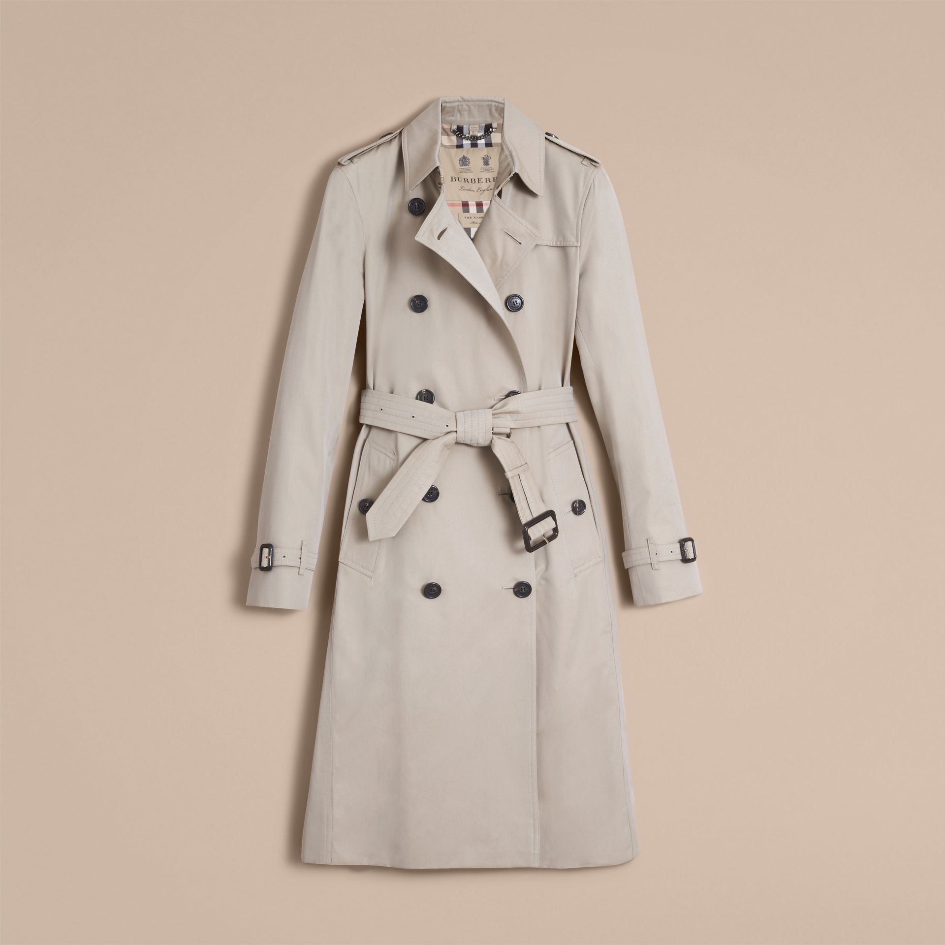 The Kensington – Extra-long Heritage Trench Coat Stone - gallery image 4