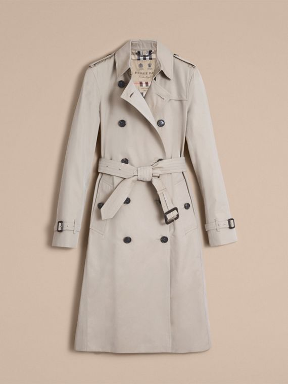 The Kensington – Extra-long Heritage Trench Coat in Stone - cell image 3