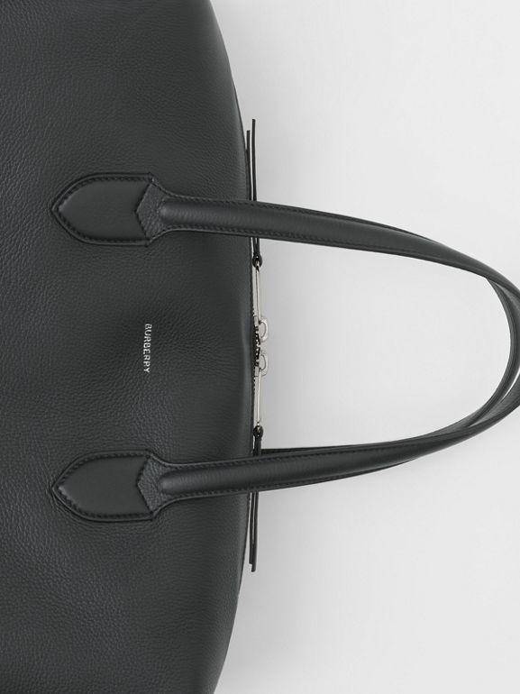 Grainy Leather Holdall in Black - Men | Burberry - cell image 1
