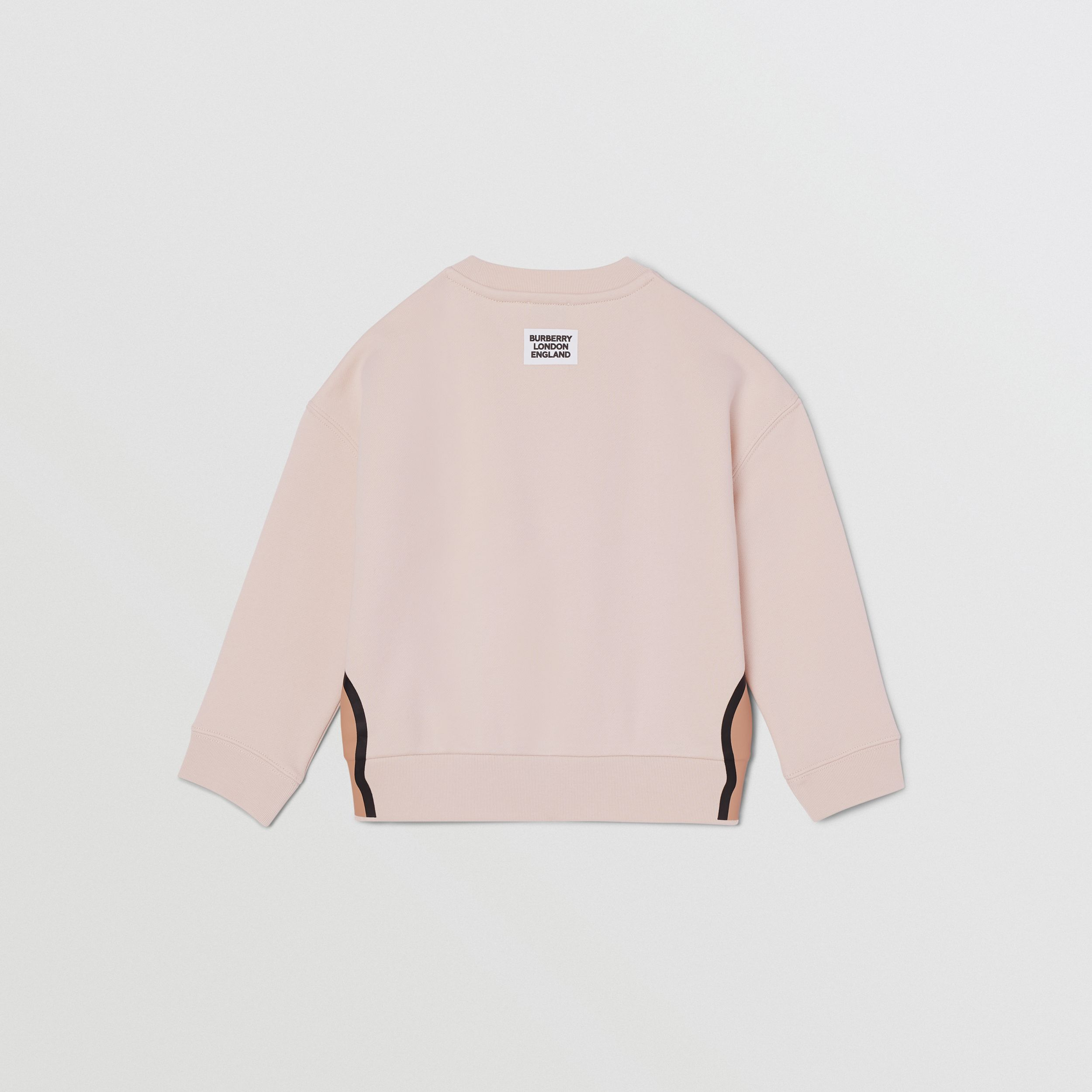 Unicorn Print Cotton Sweatshirt in Soft Pink | Burberry - 4