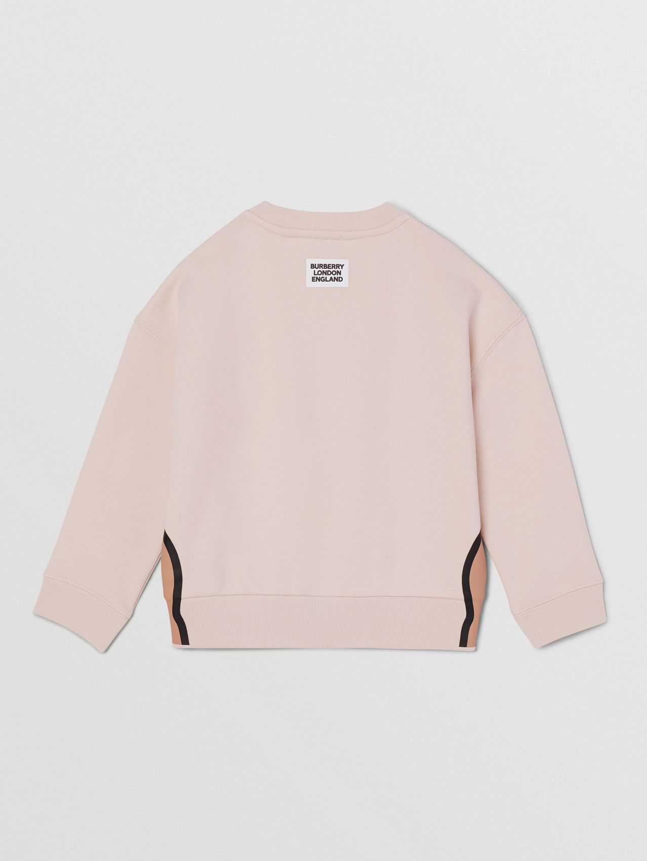 Sweat-shirt en coton à imprimé licorne in Rose Pâle