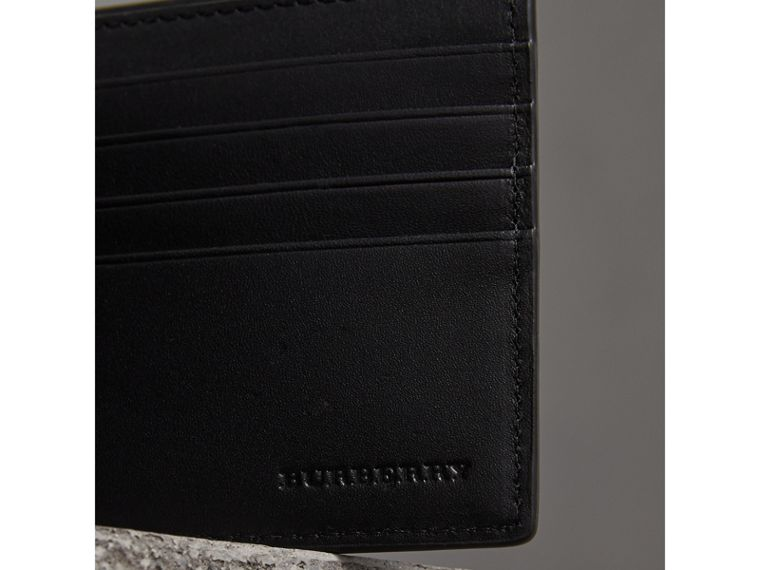 London Check International Bifold ID Coin Wallet in Chocolate/black - Men | Burberry - cell image 1