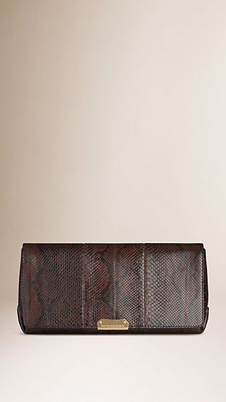 Medium Python Clutch Bag