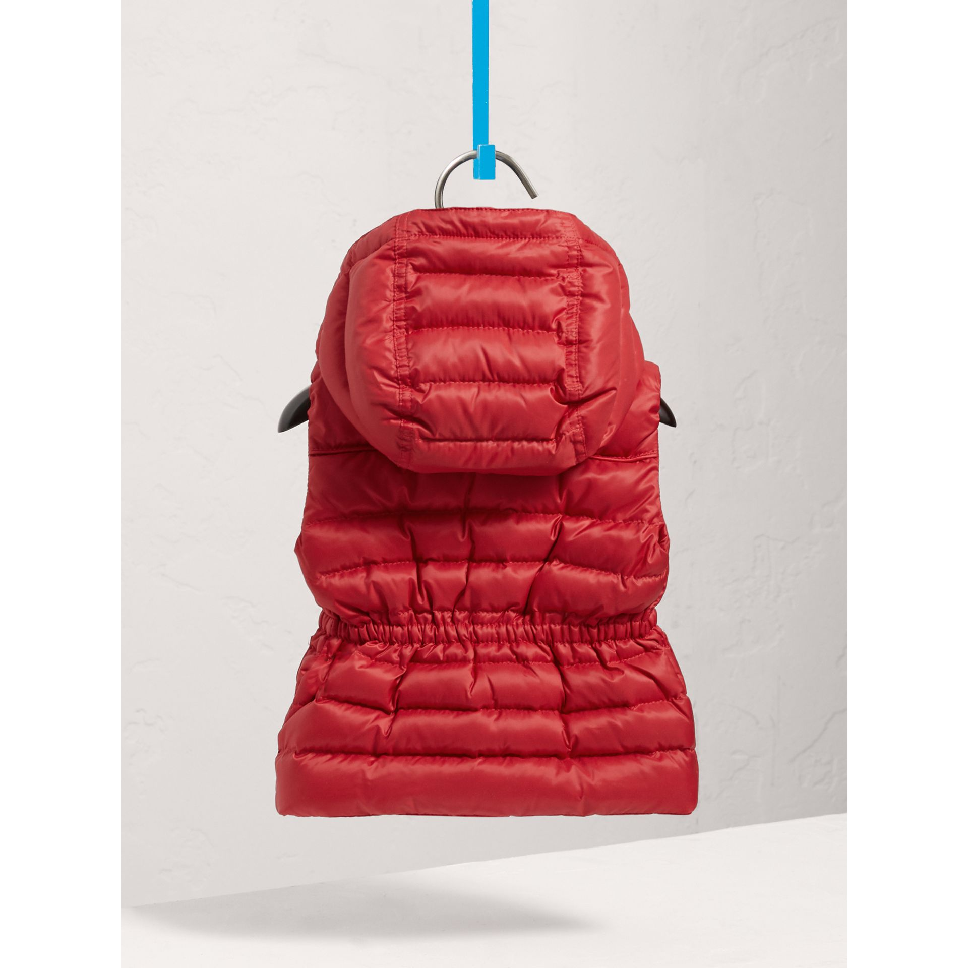 Detachable Hood Down-filled Gilet in Bright Cherry Red | Burberry Australia - gallery image 3