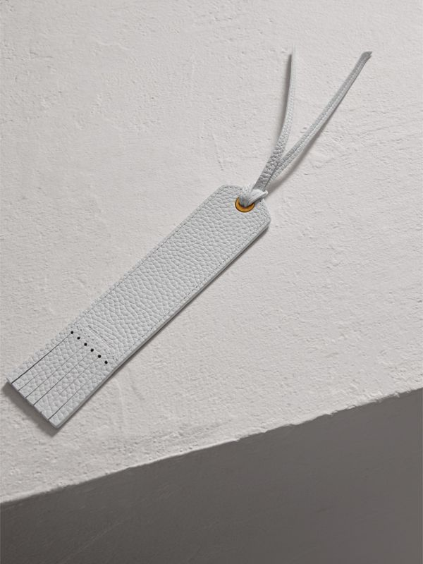 Embossed Leather Bookmark in Chalk White | Burberry Canada - cell image 2