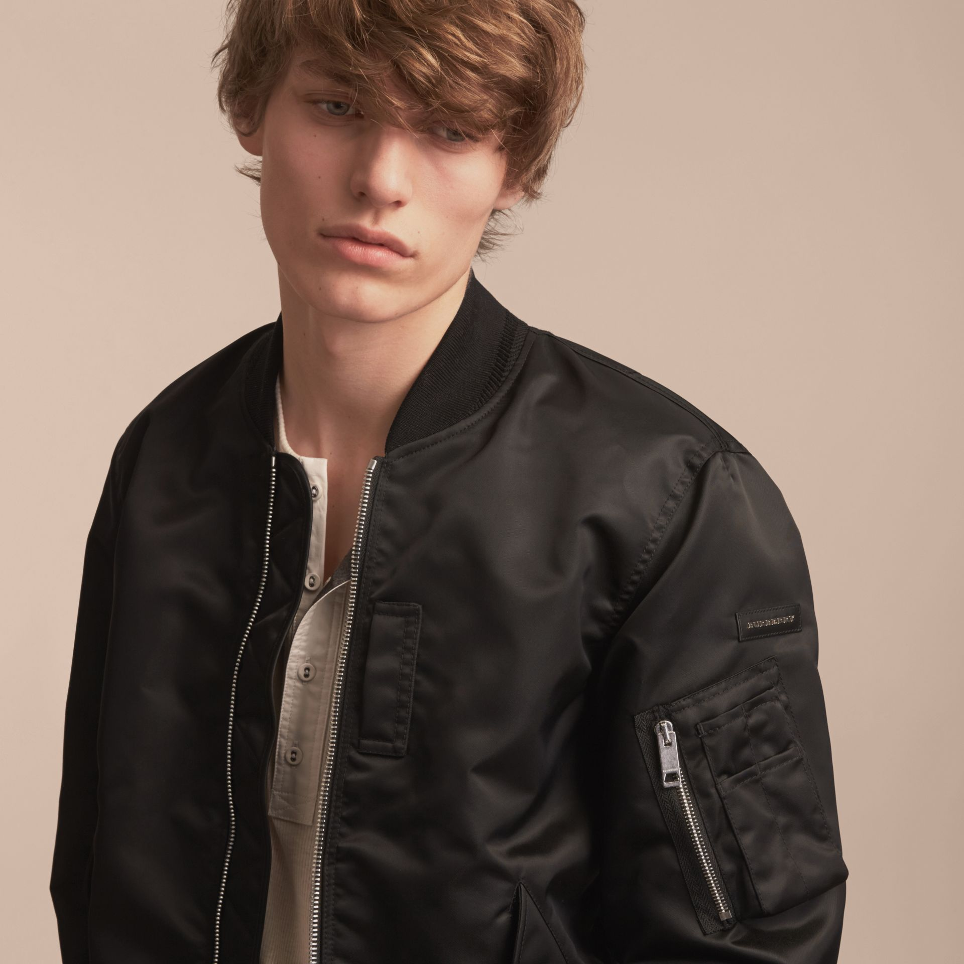 Technical Bomber Jacket Black - gallery image 5