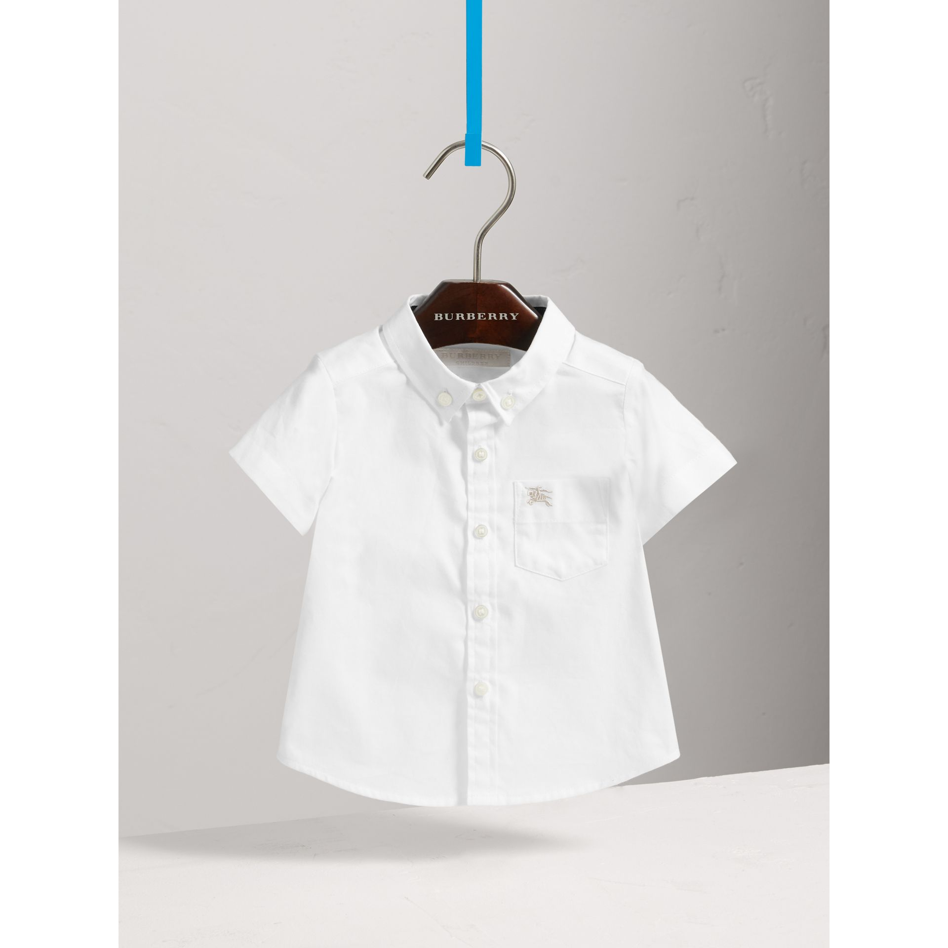 Cotton Oxford Shirt in White - Boy | Burberry - gallery image 0
