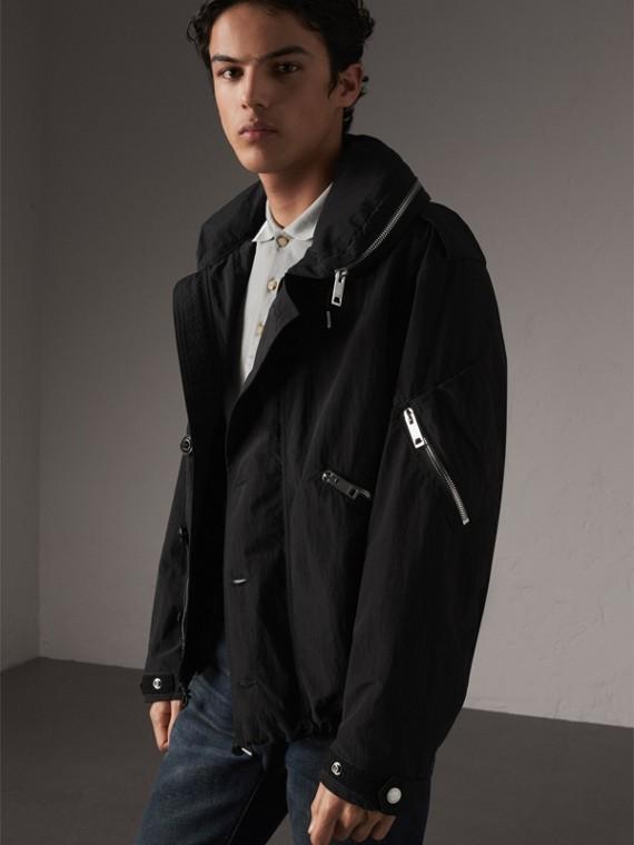 Rainproof Flyweight Jacket with Packaway Hood - Men | Burberry Canada