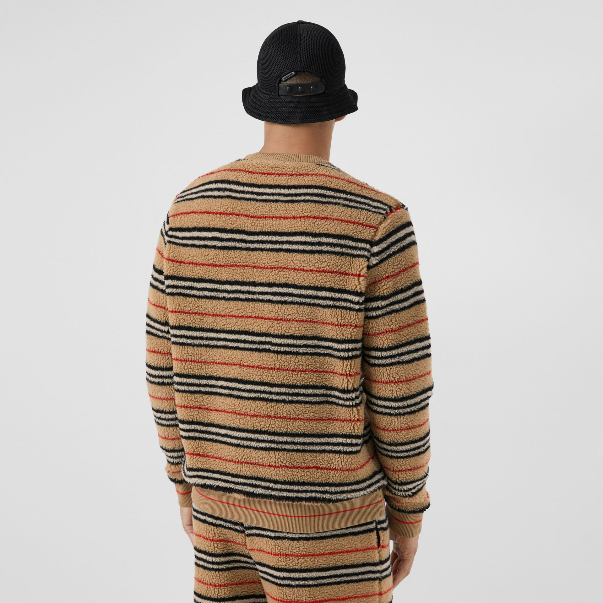 Icon Stripe Fleece Sweatshirt in Archive Beige - Men | Burberry - gallery image 2