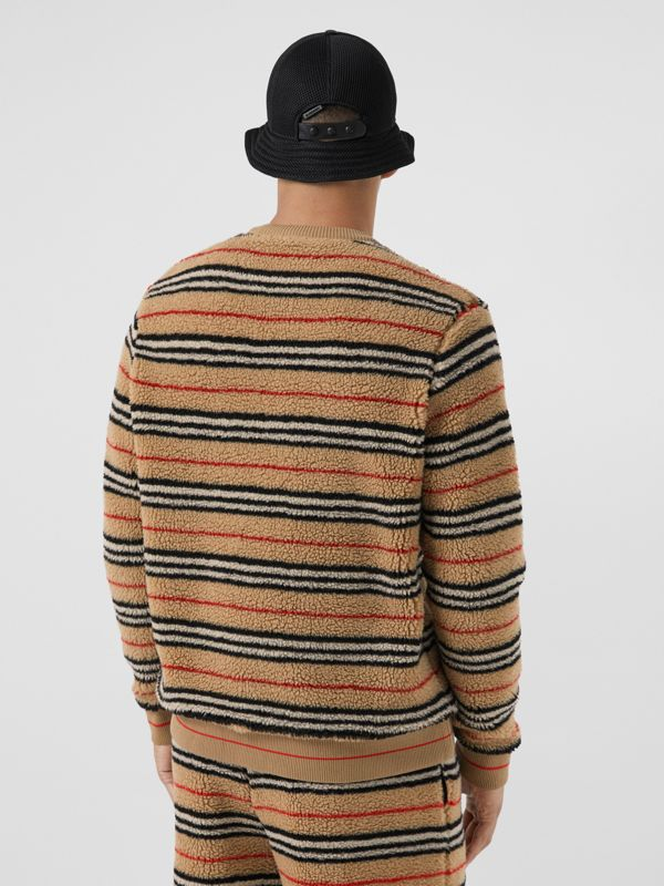 Icon Stripe Fleece Sweatshirt in Archive Beige - Men | Burberry United States - cell image 2