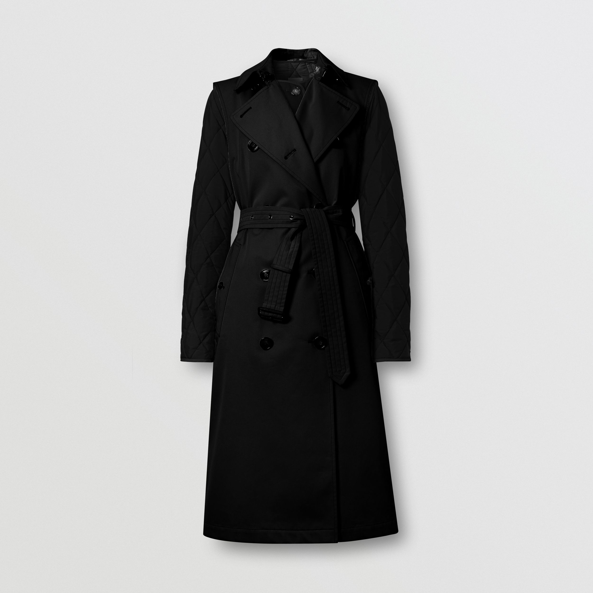 Sleeveless Trench Coat with Detachable Warmer in Black - Women | Burberry - 4