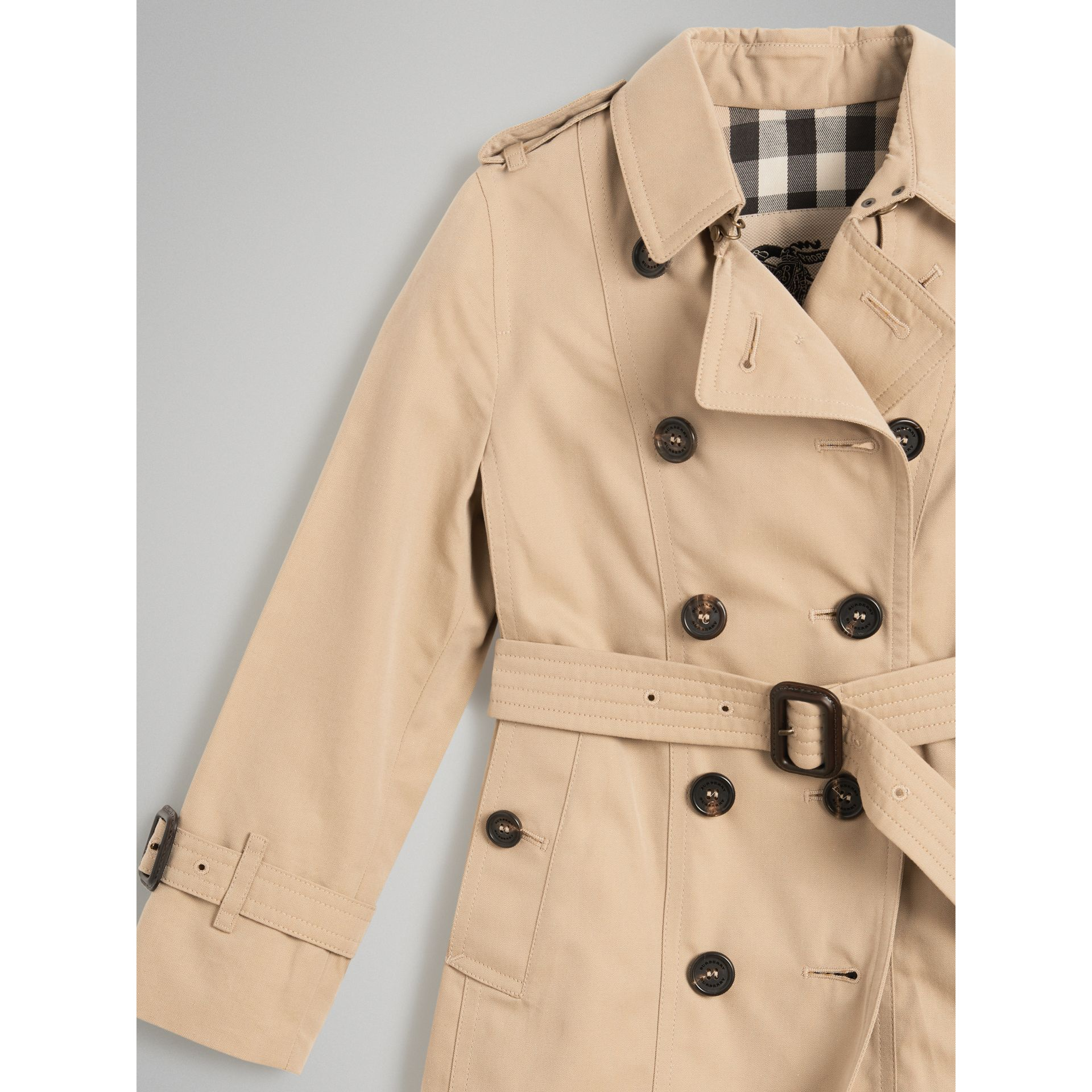 The Sandringham Trench Coat in Honey - Girl | Burberry - gallery image 4