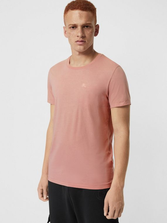 Cotton T-shirt in Chalk Pink