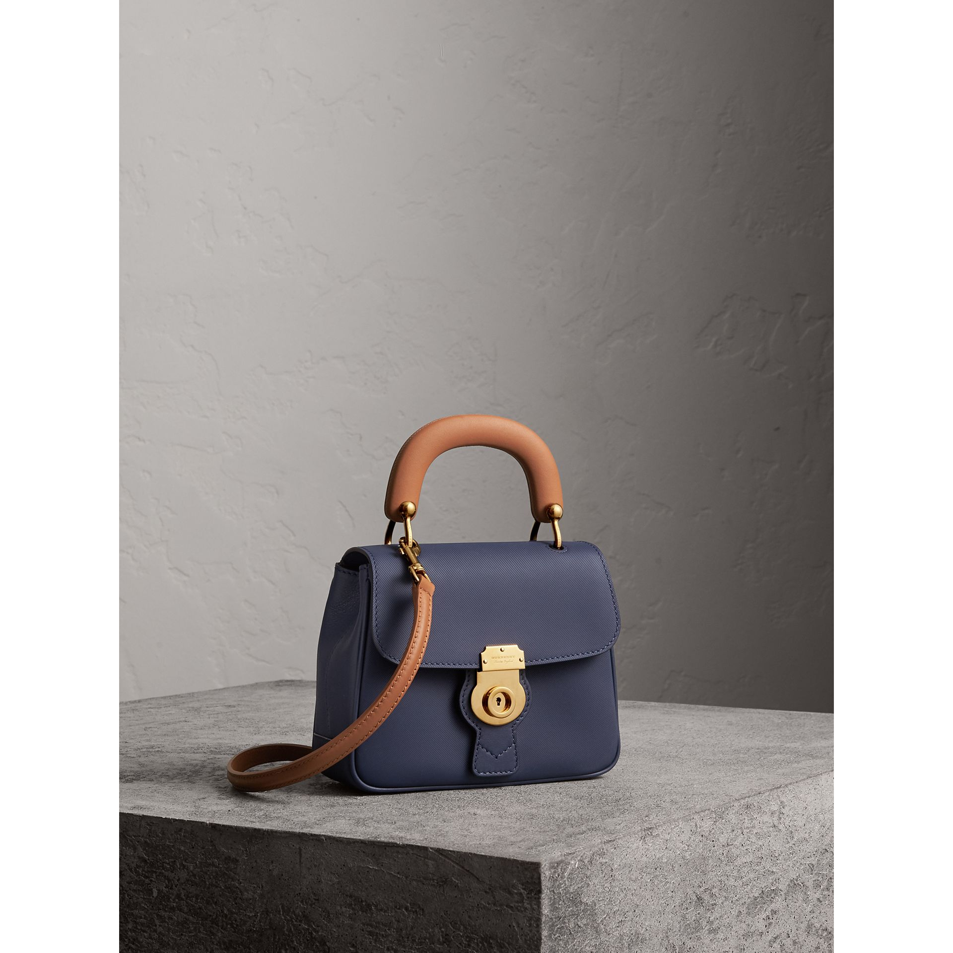 The Small DK88 Top Handle Bag in Ink Blue - Women | Burberry - gallery image 7