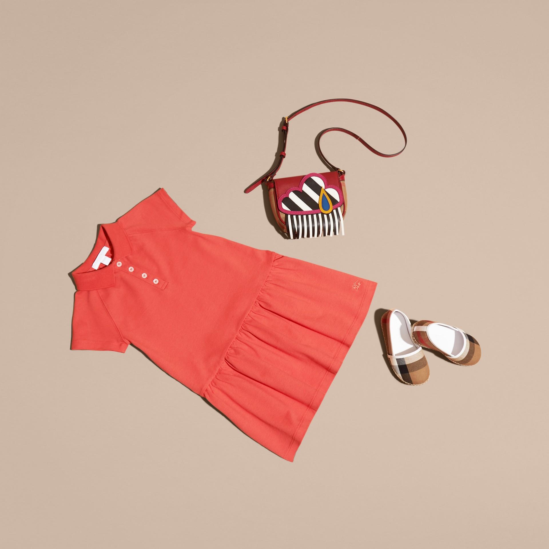 Check Placket Cotton Blend T-Shirt Dress - gallery image 5