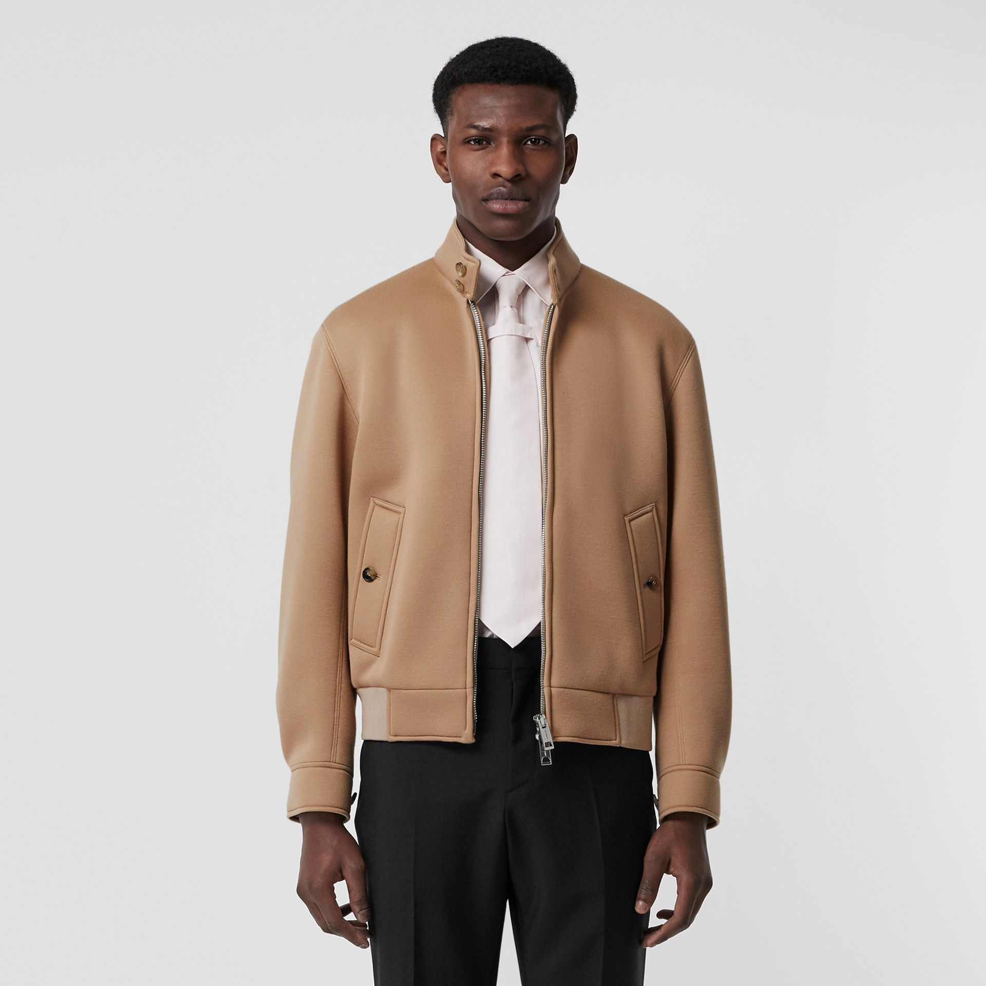 Neoprene Harrington Jacket in Beige | Burberry - gallery image 7