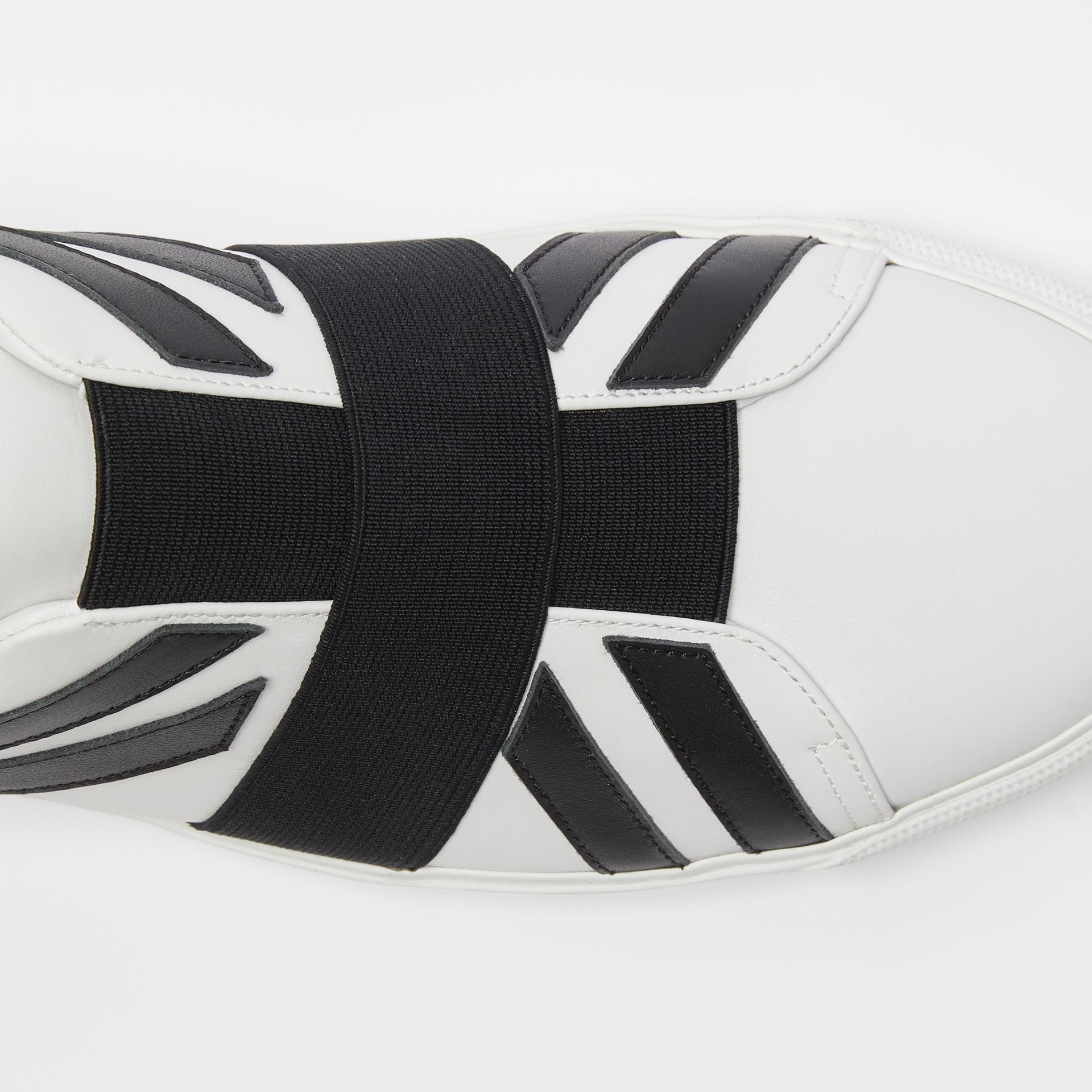 Union Jack Motif Slip-on Sneakers in White - Men | Burberry United Kingdom - gallery image 1
