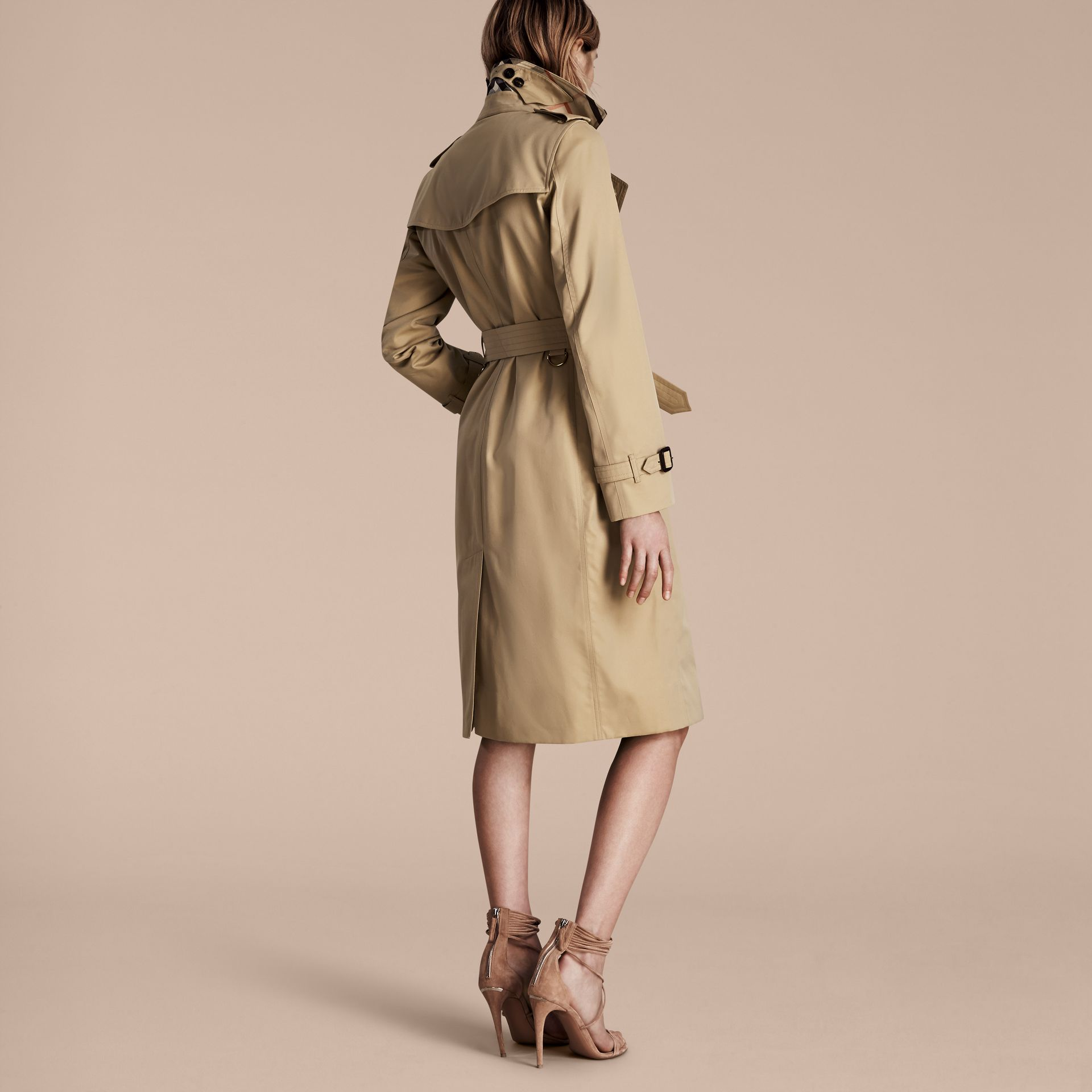 Honey The Kensington – Extra-long Heritage Trench Coat Honey - gallery image 3