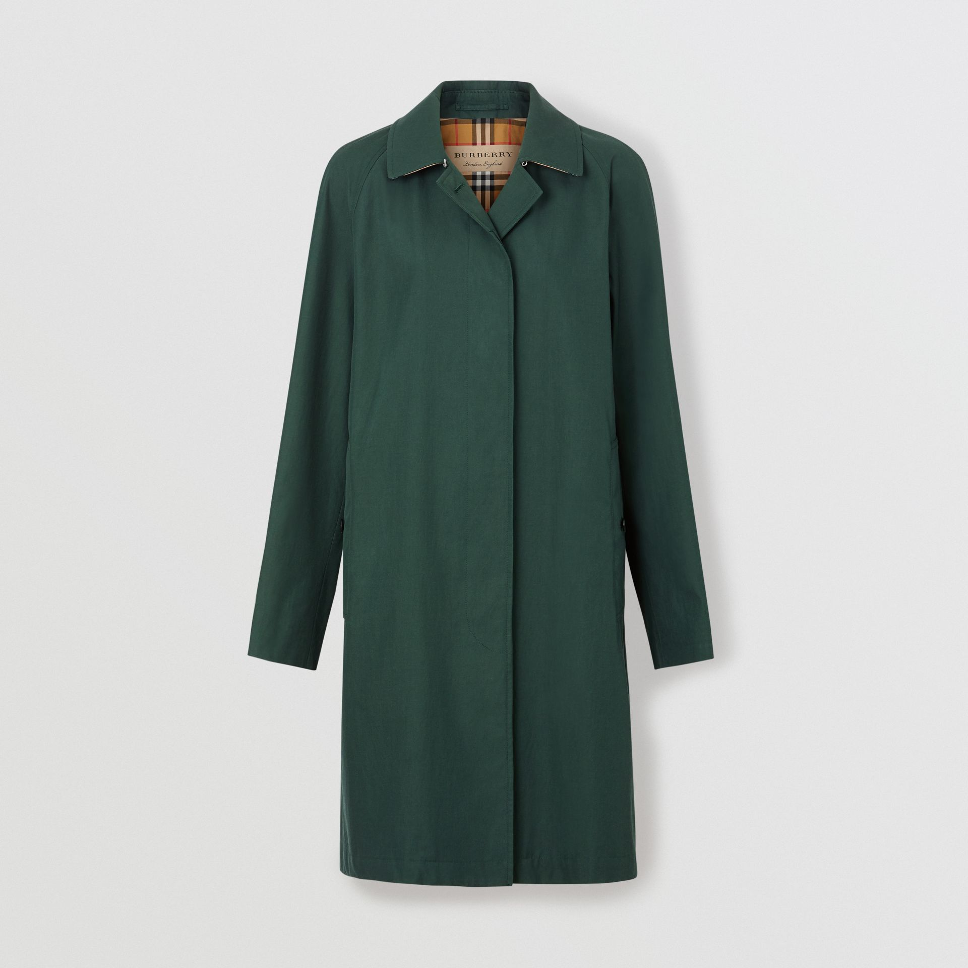 The Camden Car Coat in Dark Emerald - Women | Burberry - gallery image 3