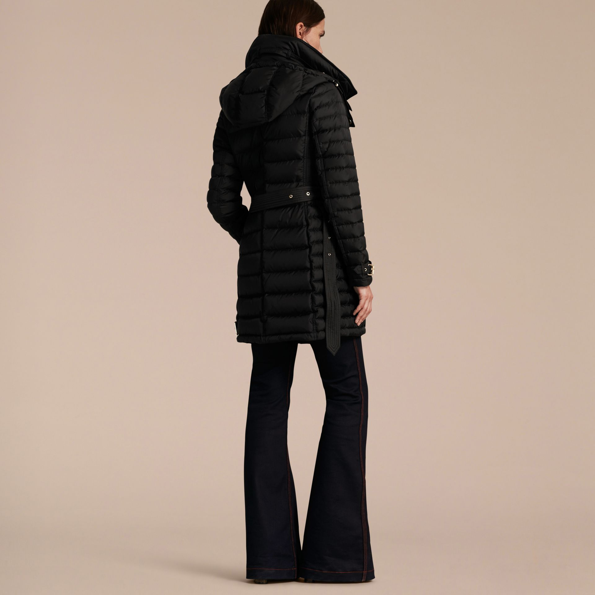 Down-filled Puffer Coat with Packaway Hood - Women | Burberry - gallery image 3