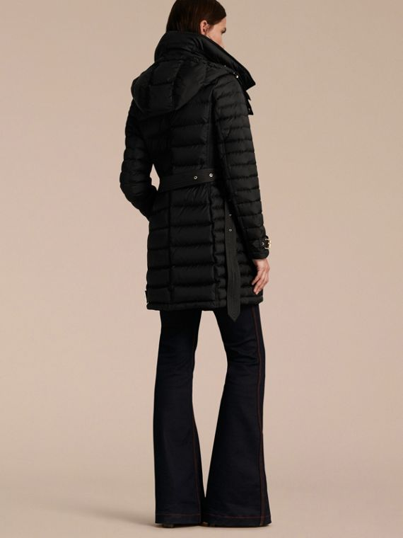 Down-filled Puffer Coat with Packaway Hood - Women | Burberry - cell image 2