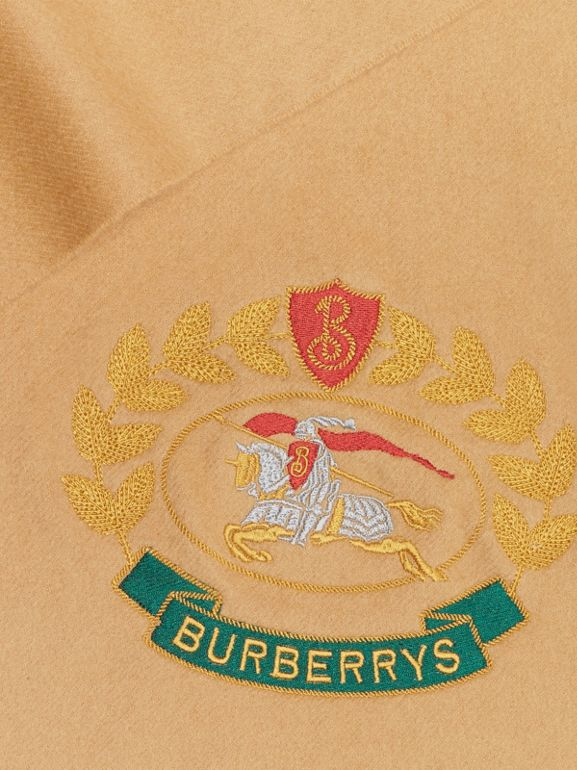 The Classic Cashmere Scarf with Archive Logo in Antique Yellow | Burberry - cell image 1