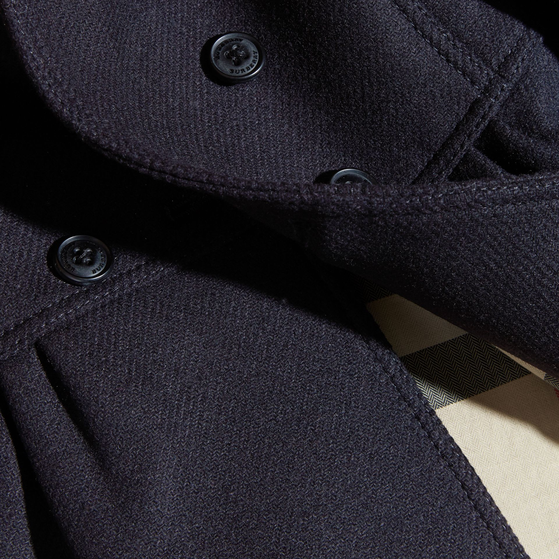 Tailored Wool Cashmere Blend Coat in Navy - gallery image 2