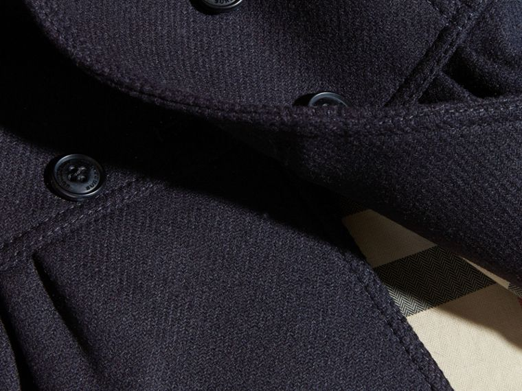 Navy Tailored Wool Cashmere Blend Coat Navy - cell image 1
