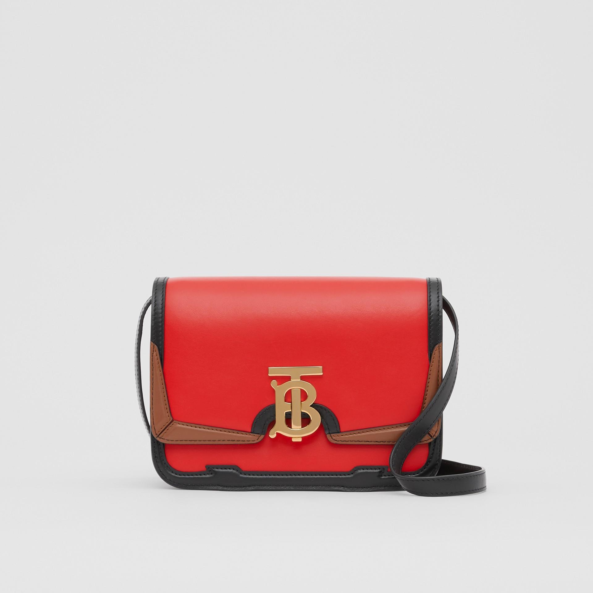 Petit sacTB en cuir avec appliqué (Rouge Vif) - Femme | Burberry - photo de la galerie 0