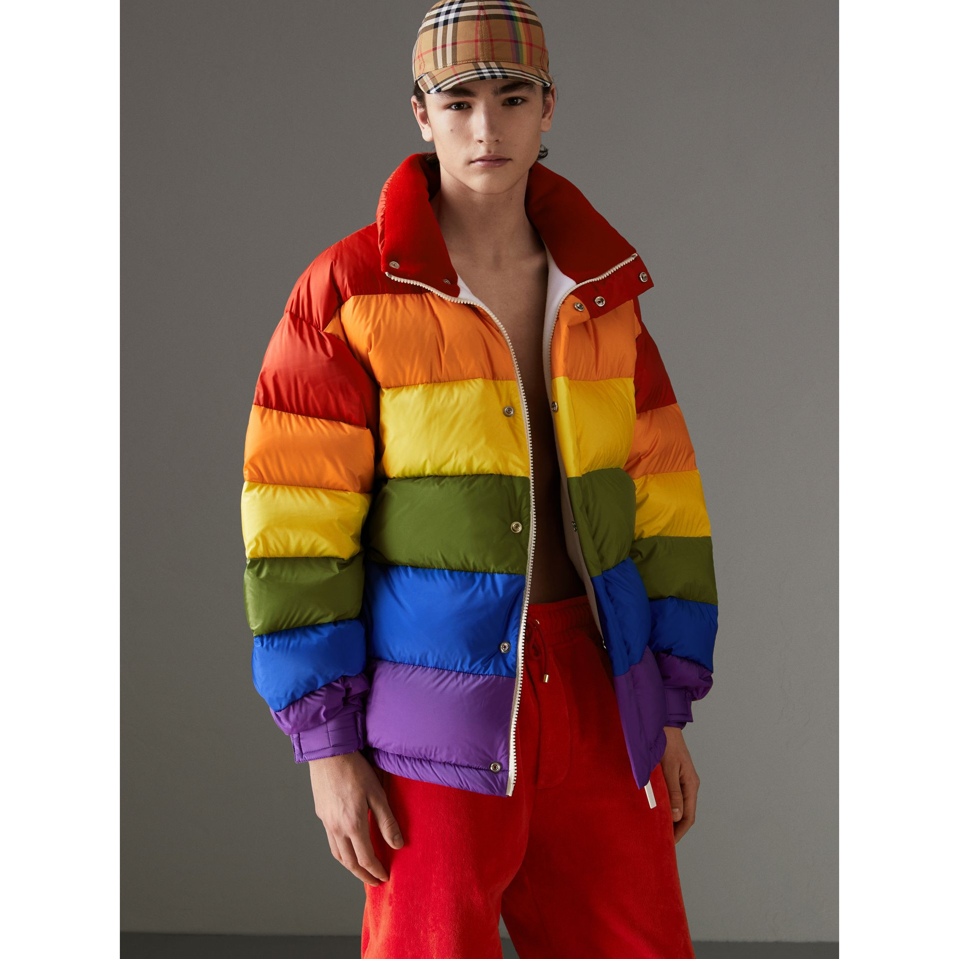 Rainbow Down-filled Puffer Jacket | Burberry - gallery image 1