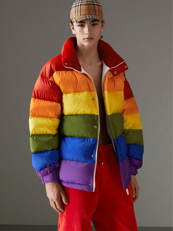 Rainbow Down-filled Puffer Jacket | Burberry United States - cell image 1