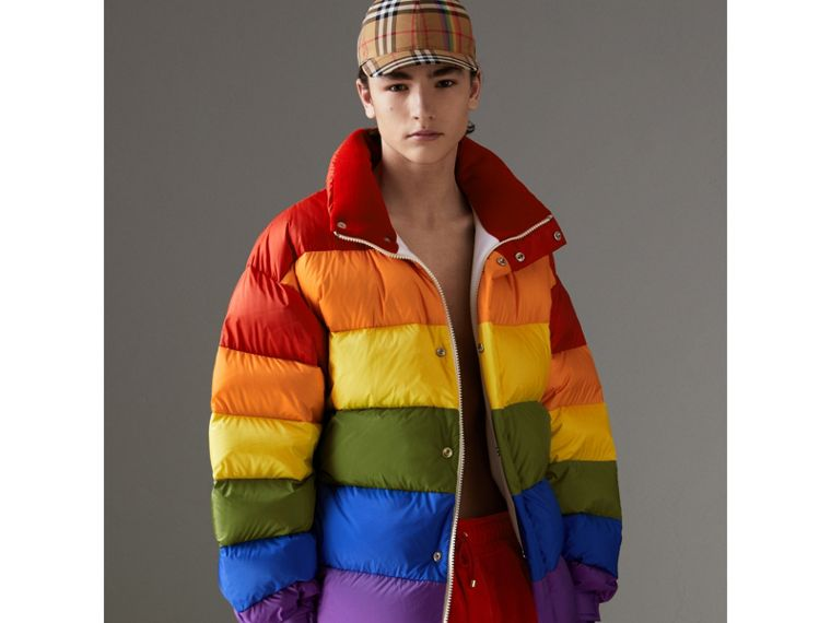 Rainbow Down-filled Puffer Jacket | Burberry - cell image 1