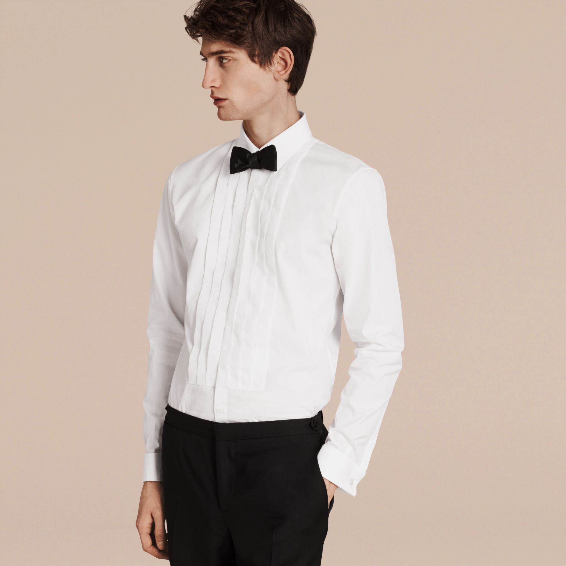 Slim Fit Cotton Poplin Dress Shirt - Men | Burberry - gallery image 1