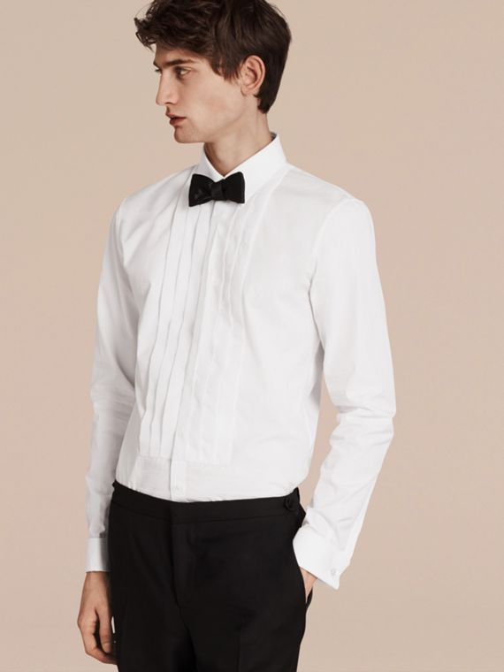 Slim Fit Cotton Poplin Dress Shirt - Men | Burberry