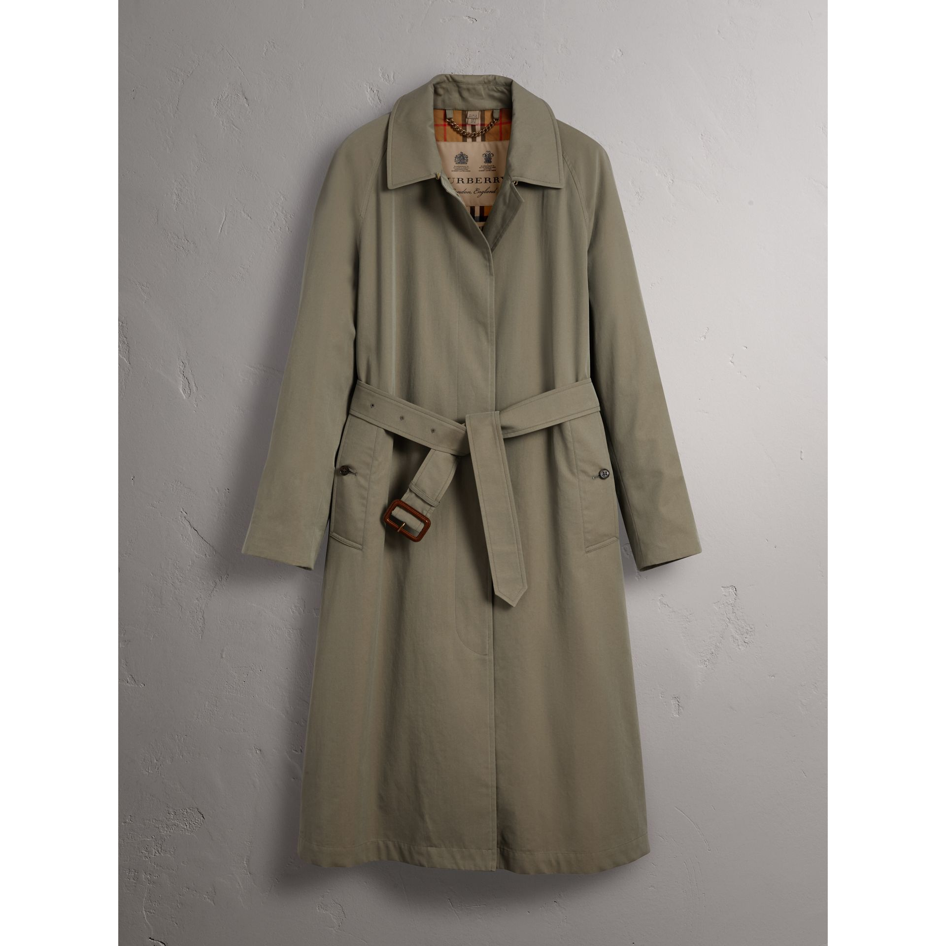 The Brighton Car Coat (Verde Gesso) - Donna | Burberry - immagine della galleria 3