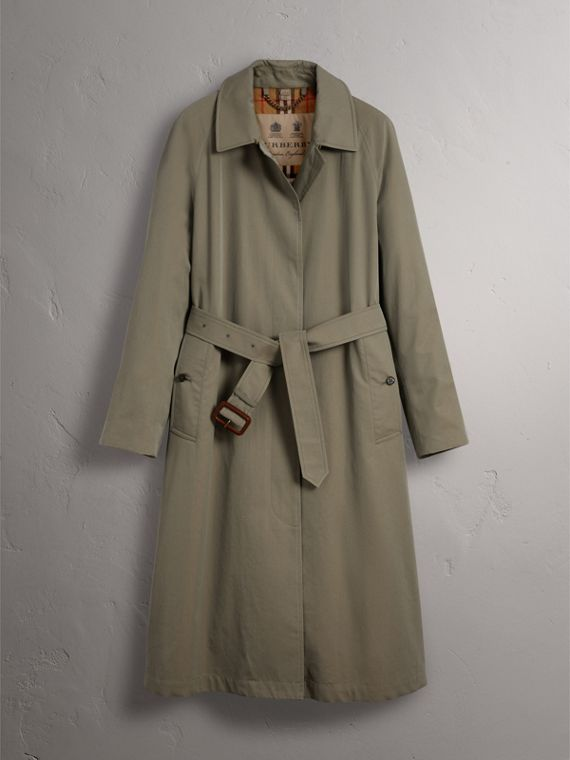 The Brighton – Car Coat extralongo (Verde Giz) - Mulheres | Burberry - cell image 3