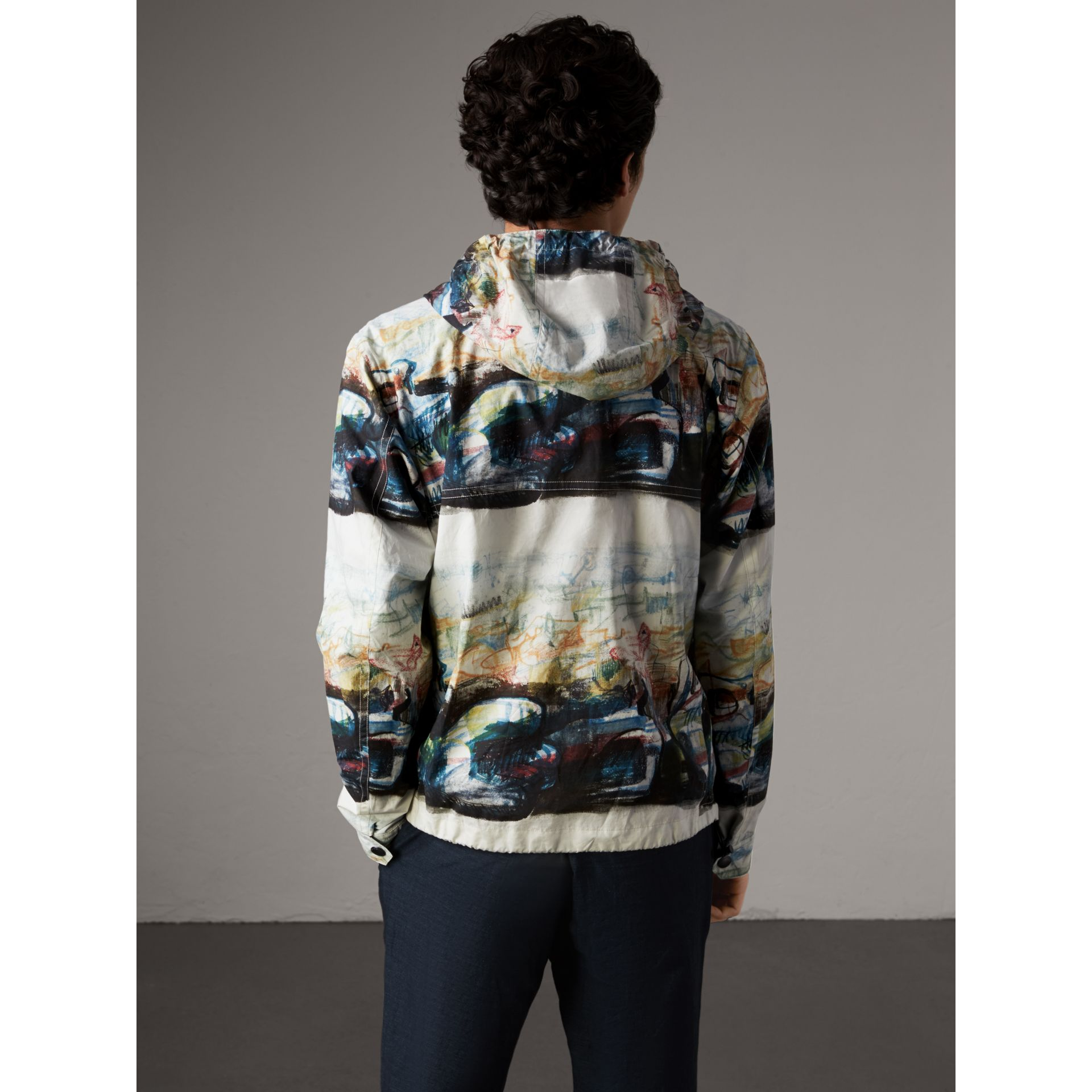 Reclining Figure: Bunched Print Hooded Jacket - Men | Burberry - gallery image 3