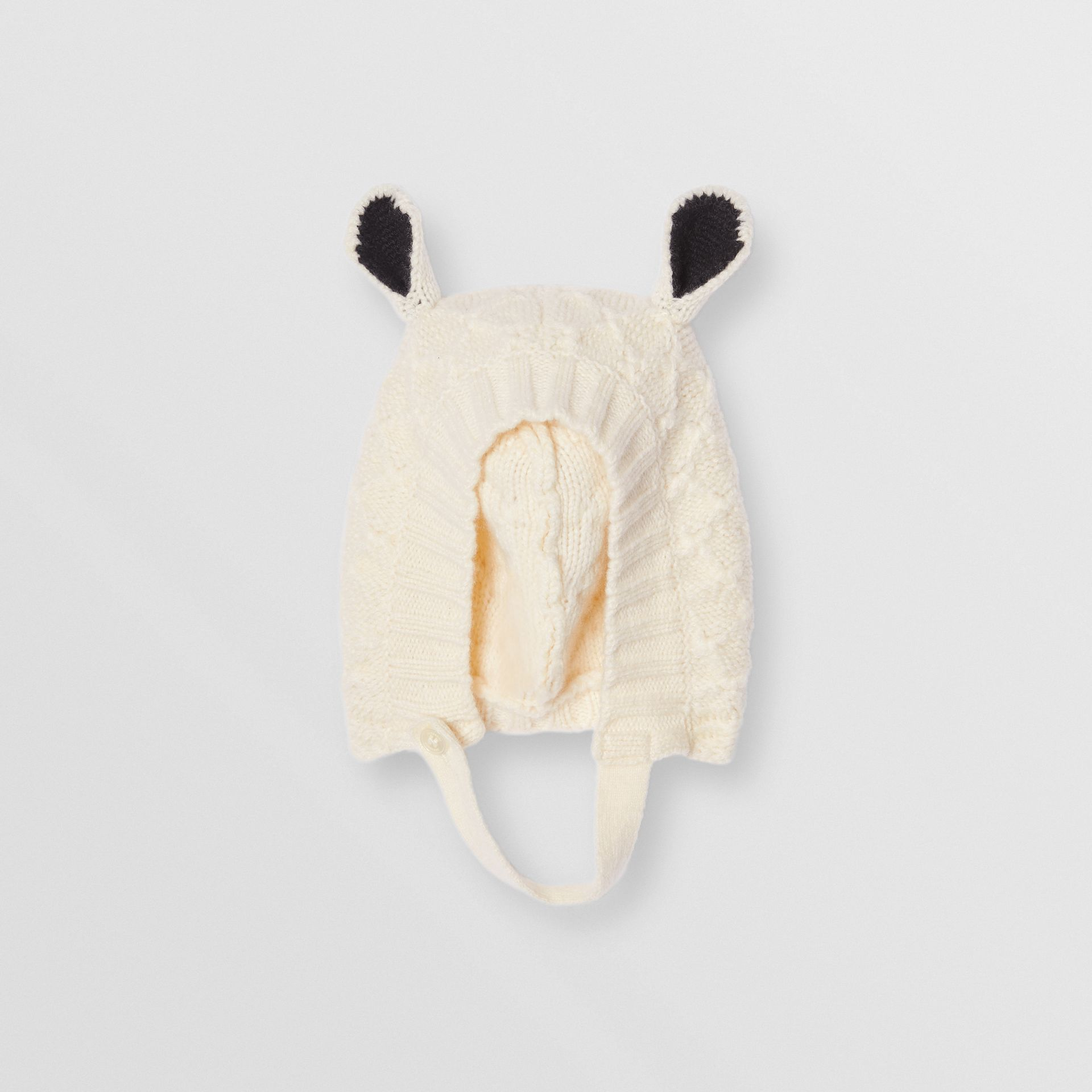 Logo Print Wool Cashmere Six-piece Baby Gift Set in Ivory - Children | Burberry United Kingdom - gallery image 7