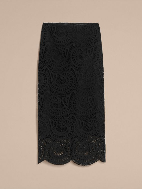 Macramé Lace Skirt - Women | Burberry - cell image 3