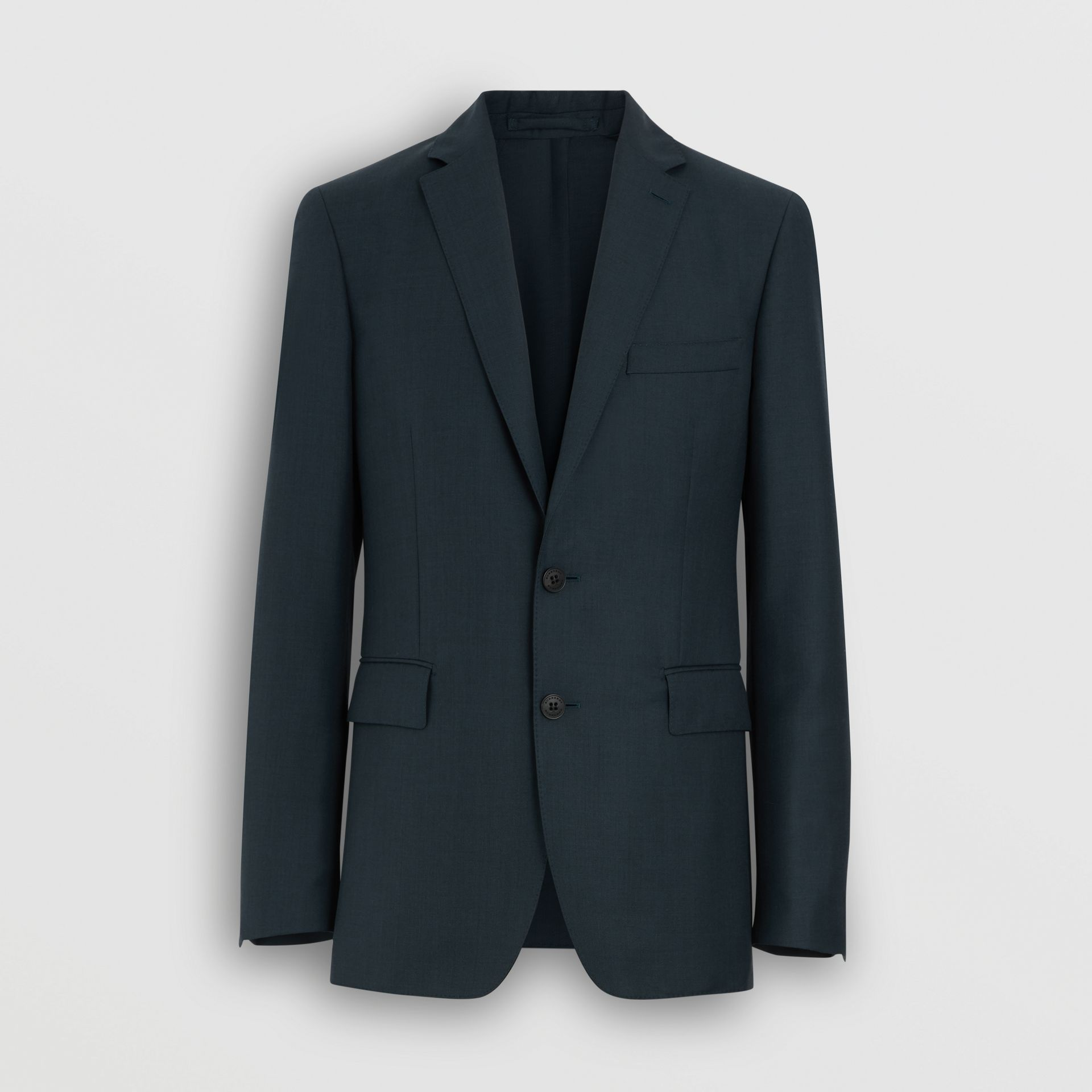 Slim Fit Wool Mohair Silk Suit in Dark Teal - Men | Burberry - gallery image 3