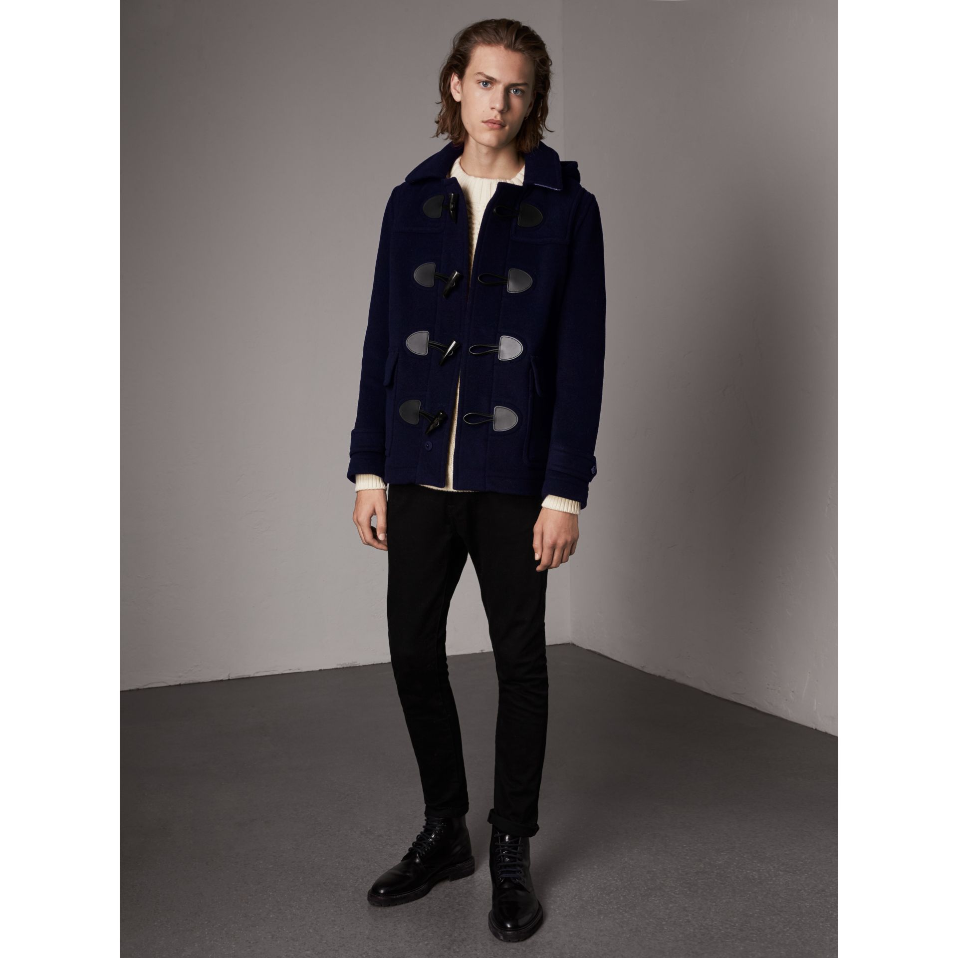 The Plymouth Duffle Coat in Navy - Men | Burberry - gallery image 0