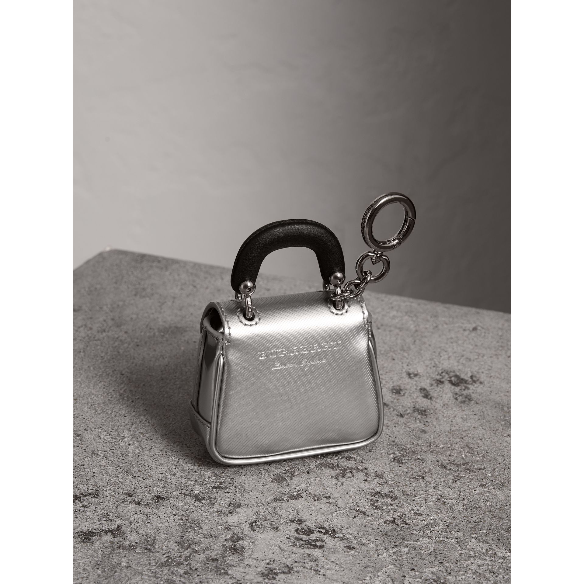 The DK88 Charm in Silver - Women | Burberry - gallery image 3