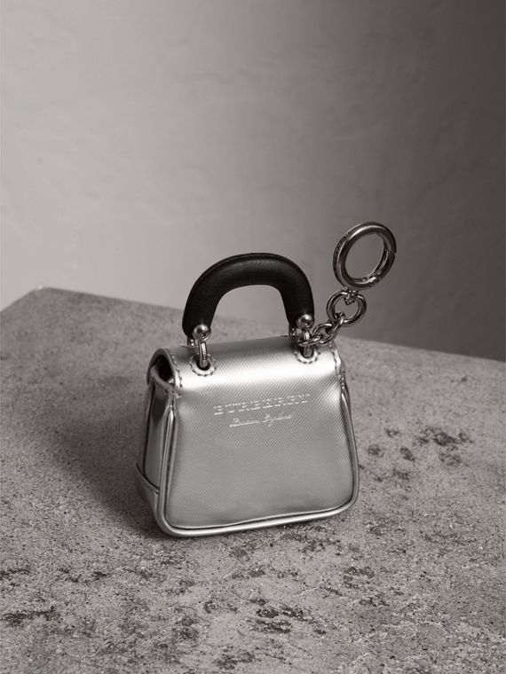 The DK88 Charm in Silver - Women | Burberry - cell image 3