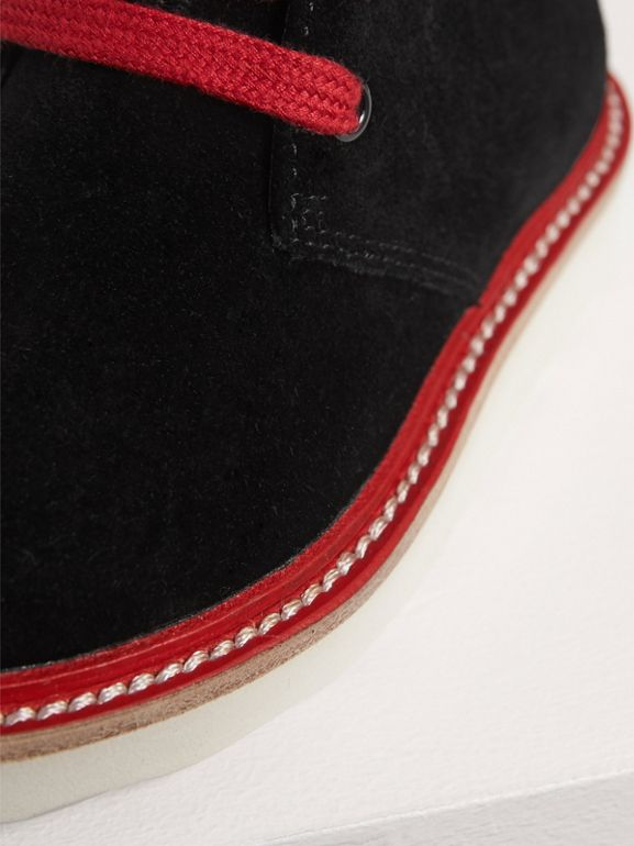 Two-tone Suede Desert Boots in Black | Burberry - cell image 1
