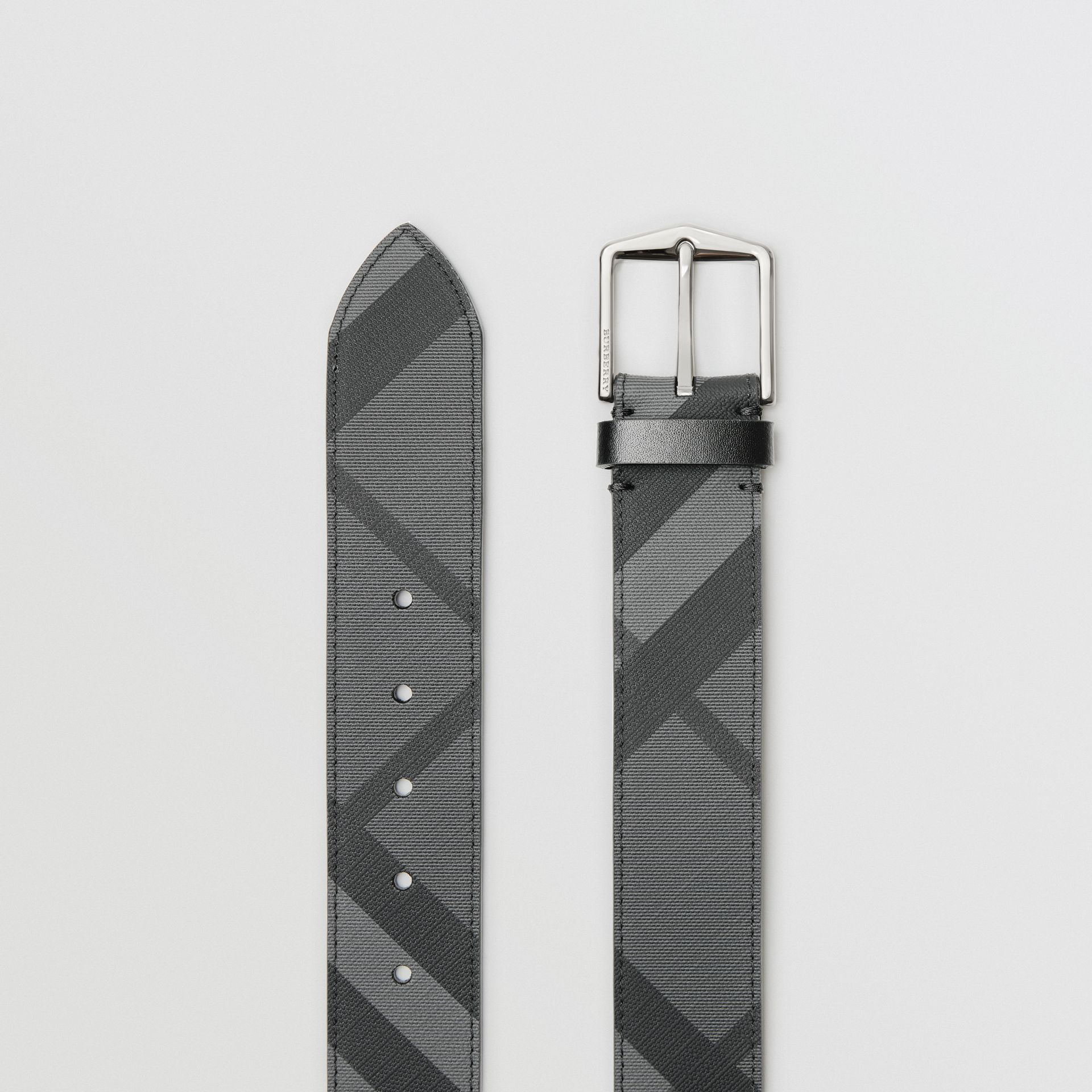 London Check Belt in Charcoal/black - Men | Burberry - gallery image 5